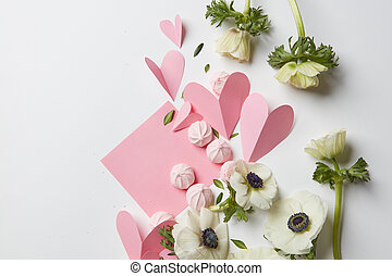 Empty copyspace valentine card - Valentines day or wedding...