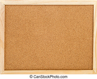 Empty cork memo board