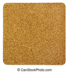 Empty cork memo board isolated on white background
