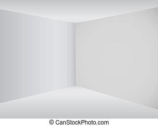 Empty corner in the room - Vector