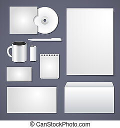 Empty corporate identity template