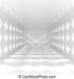 Empty Corridor in the Modern Office Building - 3d illustration