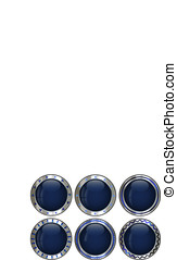 Empty creative button set
