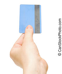 empty credit card female hand holding