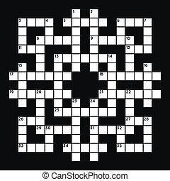 Empty crossword grid - Blank crossword grid