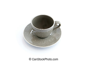 Empty cup and saucer