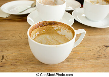 Empty cup of Latte Coffee art.
