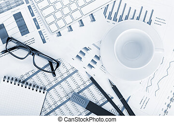Empty cup on contemporary workplace