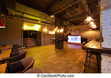 Night club interior.