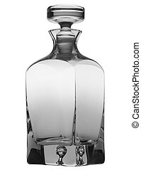 Empty decanter isolated on a white background with clipping path