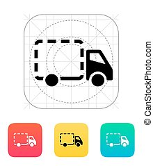 Empty delivery truck icon.