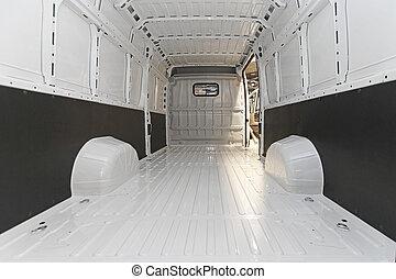 Empty delivery van