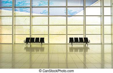 Empty departure lounge