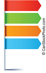 Empty direction sign. - .Vector direction sign with four ...