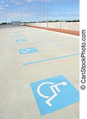 Empty disabled car park