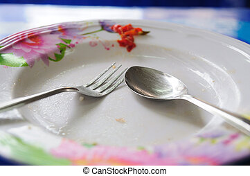 Empty dish after completed meal