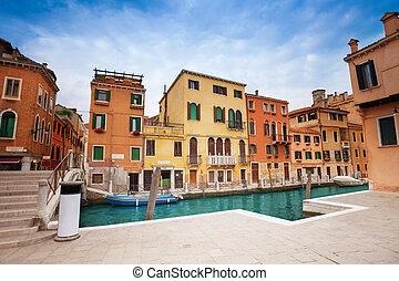 Empty dock for gondola