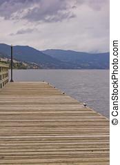 Empty dock on lake