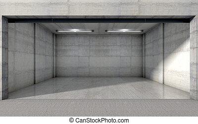 Empty Double Garage