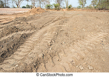 Empty dry cracked swamp reclamation soil, land plot for ...