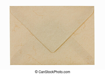 Empty envelope - Blank empty envelope from marbled paper