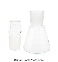 Empty Erlenmeyer flask isolated