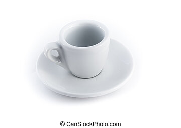 empty espresso cup isolated on a white background
