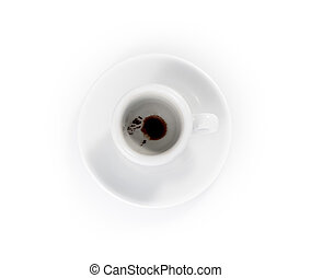 empty espresso cups isolated on a white background