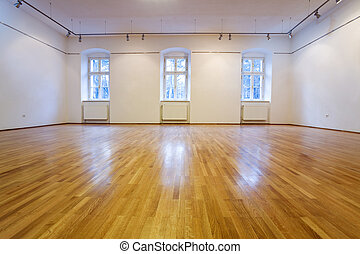 Empty exposition room - Generic empty exposition room with...