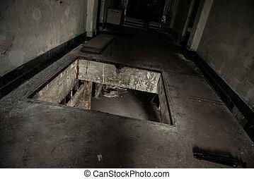 Empty factory building