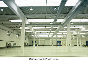 Empty factory - Empty space of factory hall littlebit ...