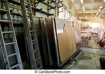 Empty factory workshop.