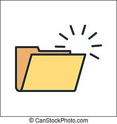empty file icon illustration design