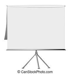 flip chart - Empty flip chart on a tripod