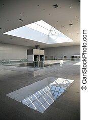 Empty floor of shopping center