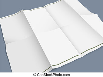 Empty folded paper booklet