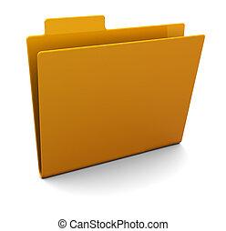 empty folder - 3d illustration of empty folder over white...