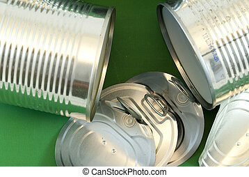 Empty food cans