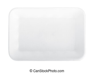 Empty food tray. Isolated on white background