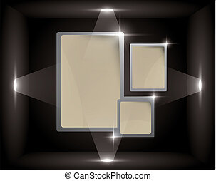 empty frame in a cube