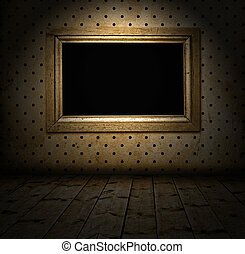 empty frame in a room