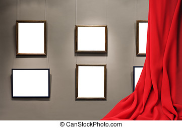 empty frame on the wall in an interior room