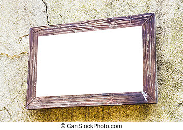 Empty frame on wall