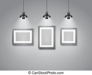 Empty frames - Empty pictures frames, wall template of...