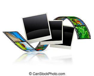 Empty frames with film strip