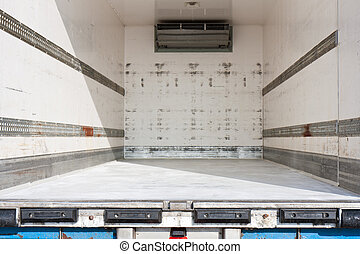 Empty freight compartment of a truck