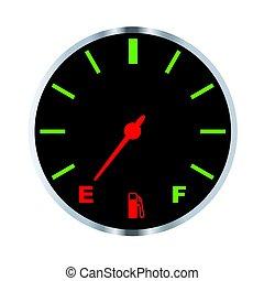 Empty Fuel Gauge