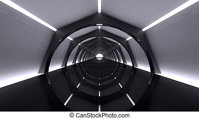 Empty futuristic interior, abstract
