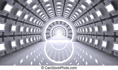 Empty futuristic interior, abstract - Abstract Modern...
