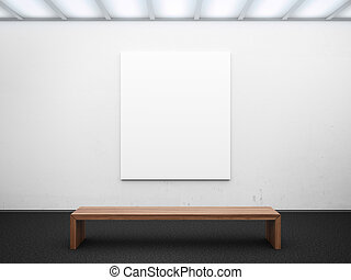 empty gallery with frame